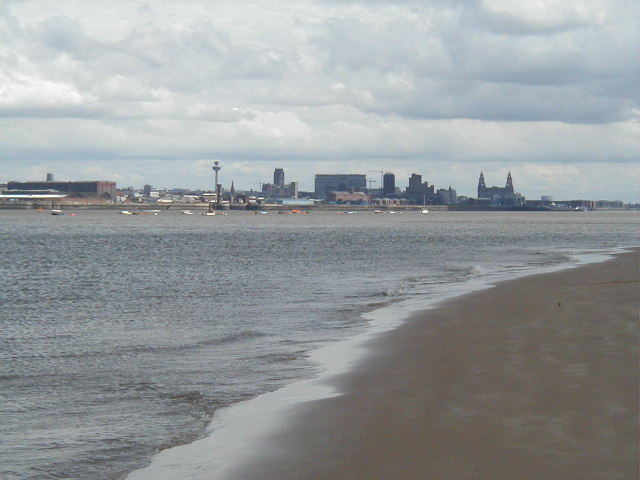 View cross the Mersey Estuary