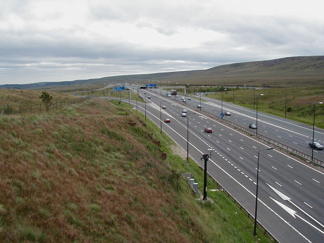 M62 from the pennine way