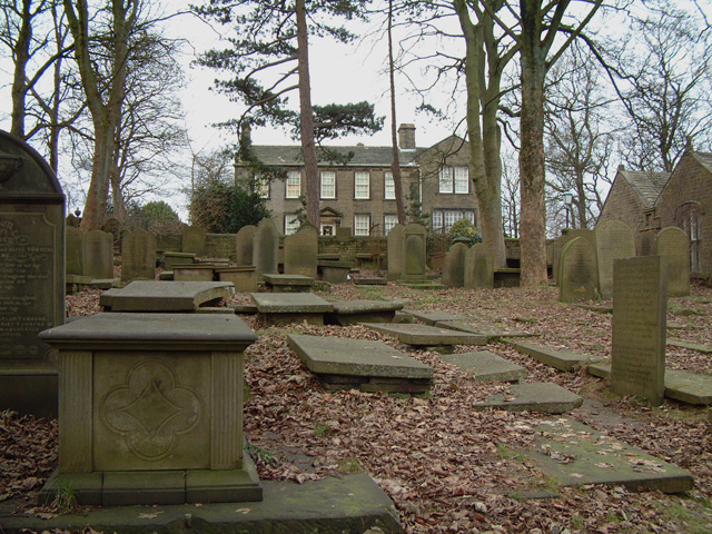 Bronte Parsonage from Churchyard