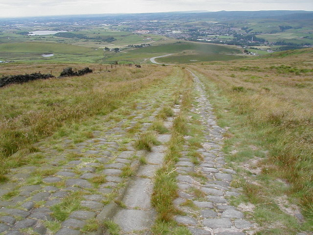 Looking down the Roman Road