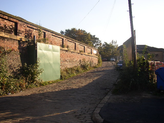 Access road to the former Batley Carr station, Bradford Rd, Dewsbury