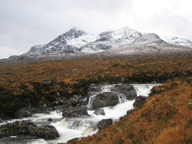 Waterfall on Allt Dearg Mor