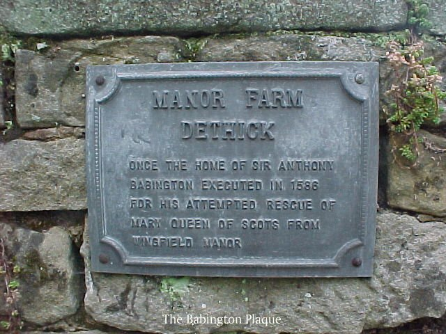 Plaque at Manor Farm Dethick