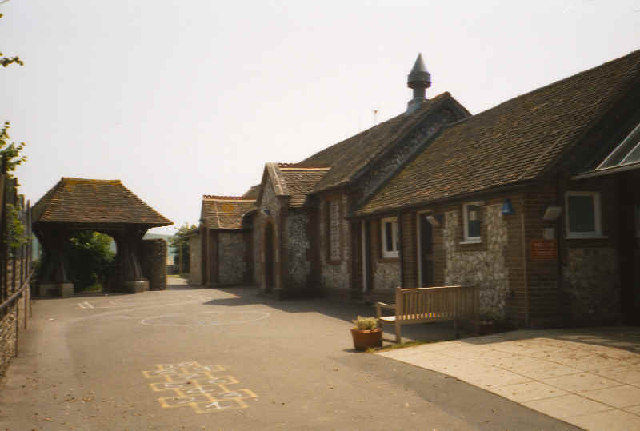 Rodmell Village School and Lych gate
