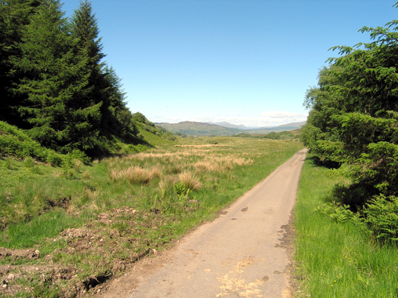 Oban to Connel track