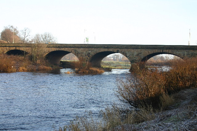 A7 Roadbridge over River Eden in Carlisle