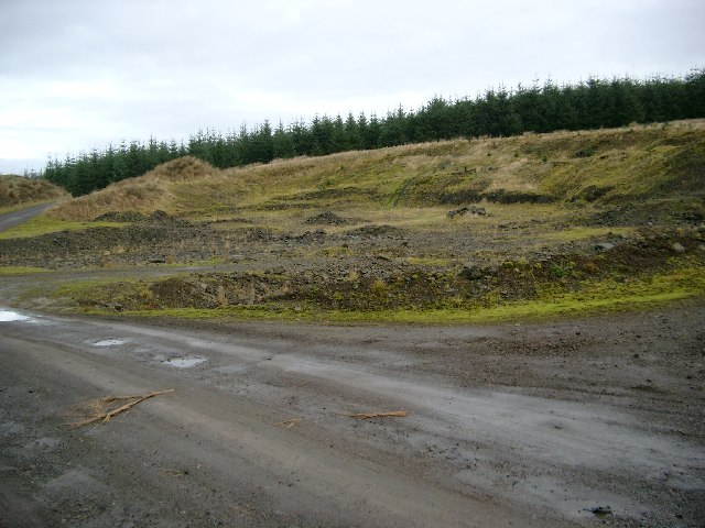 Quarry in the Whitelee Forest