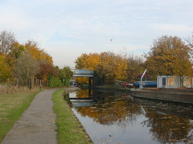Approaching Three Bridges on the tow path