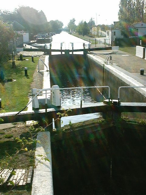 Top Lock on the Grand Union Canal at Norwood Green