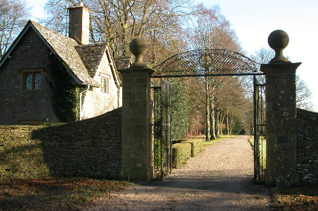 Entrance and gatehouse to Notgrove Manor