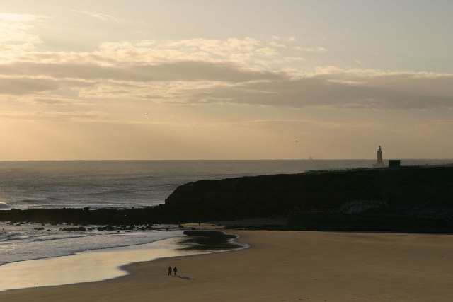Sharpness Point, Tynemouth from the Long Sands
