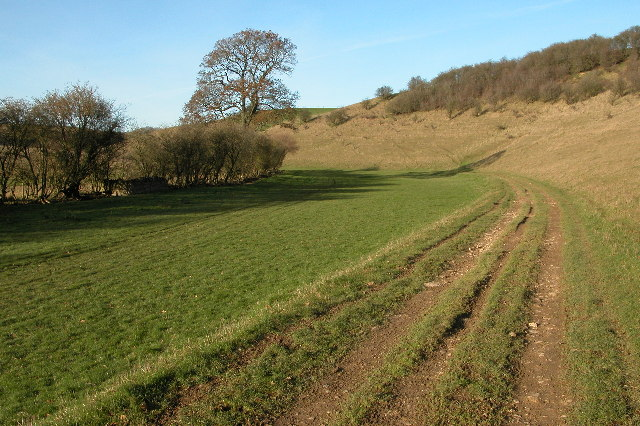 Track along a valley to the west of Turkdean