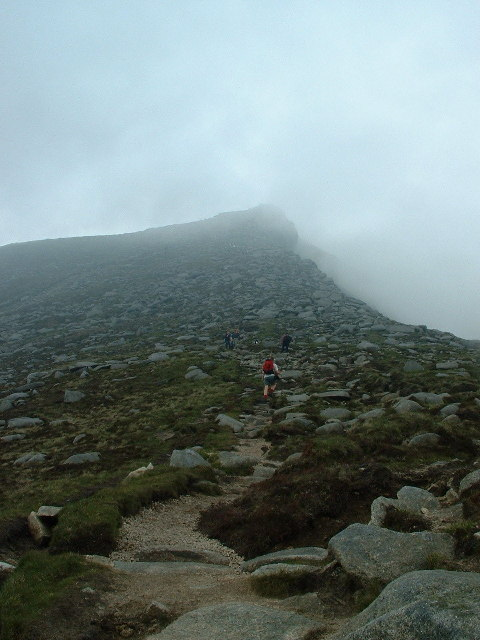 The path to the summit of Goatfell