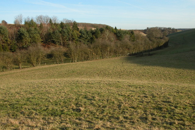 Cotswold valley below Aston Grove