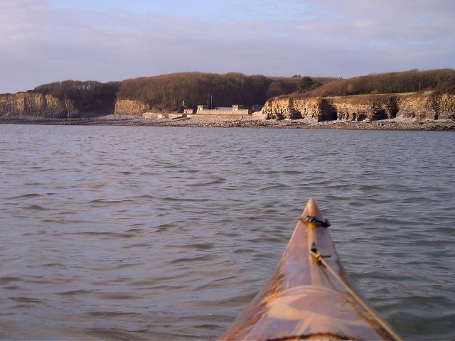 St Donats Castle from my sea kayak