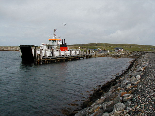 Slipway for Ferry from Berneray to Harris