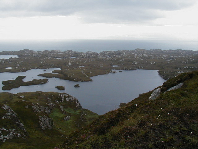 Loch a Ghlinne-dorca from slopes of Burabhal