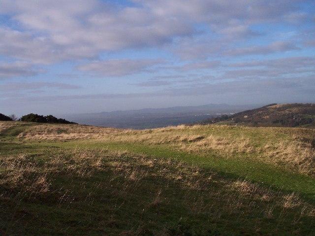 View of the Malvern Hills from Cleeve Hill