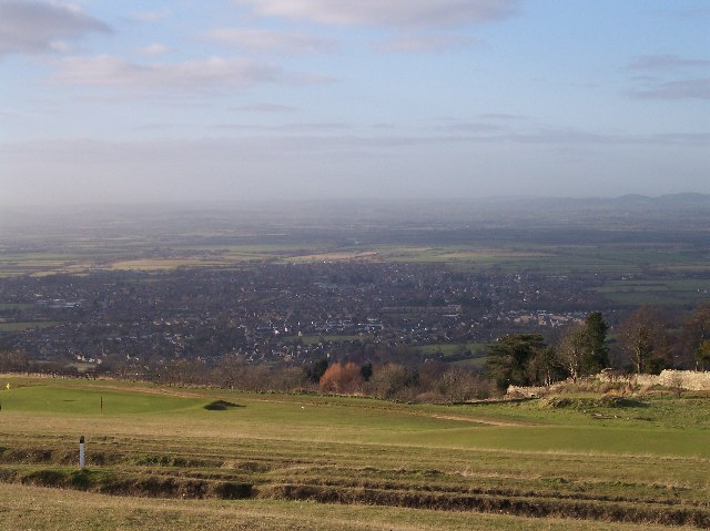 View of Bishop's Cleeve from Cleeve Hill
