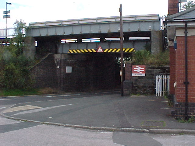 Rail Bridge over Road at Cosford Halt