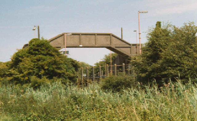 Footbridge over Rail Line Southease Station