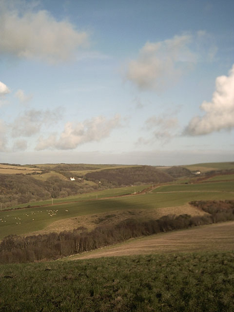 View of Snowball Hill from Halsinger Down
