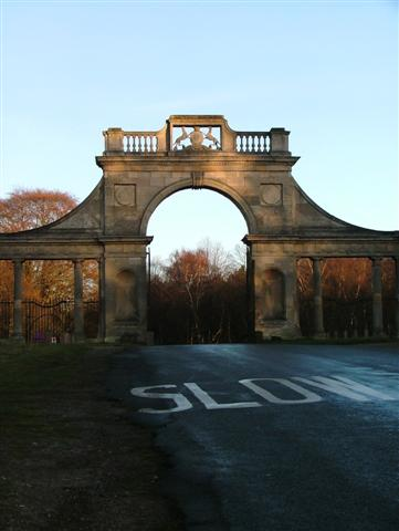 Close Up of the Gate at Apleyhead Lodge