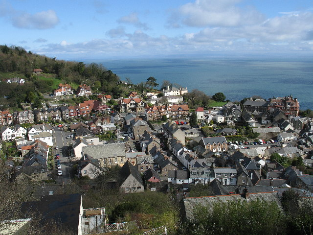 Looking down on Lynton
