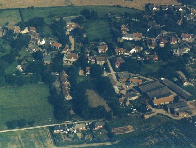 Aerial picture of Lower Rodmell