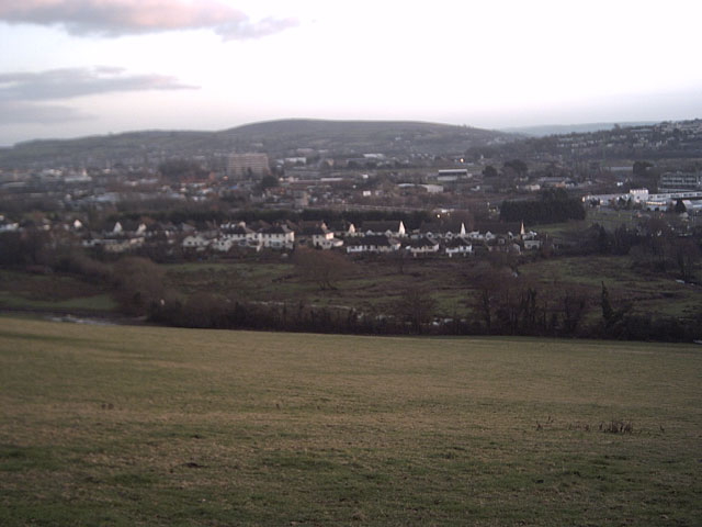 View of Barnstaple from Poleshill Lane