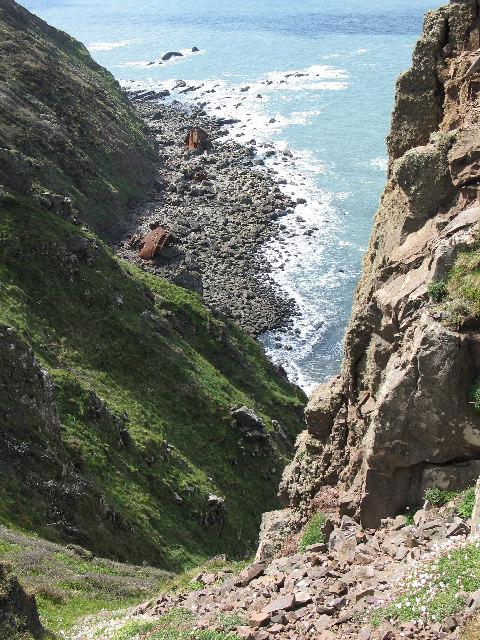 Hartland Point, wreck of the Johanna