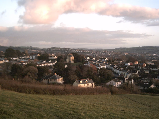View of Bradiford from Poleshill Lane