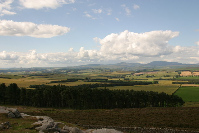Cheviots viewed from near St Cuthbert's Cave