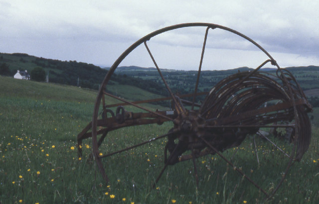 Farm equipment in crofting country, Glen Convinth