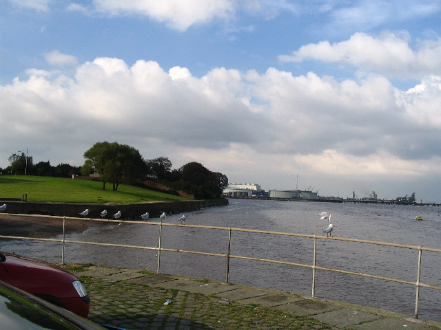 Banks of the River Mersey at Rock Ferry