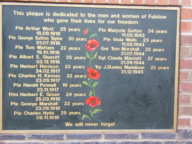 Fulstow - War memorial