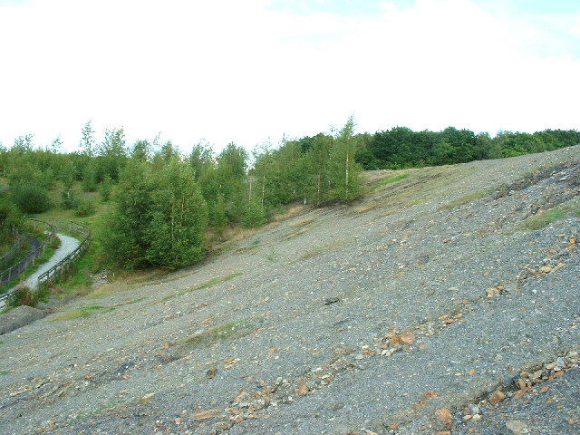 Spoil heap north of the former Grange Colliery