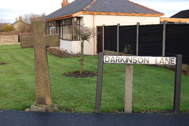 The cross on Darkinson Lane