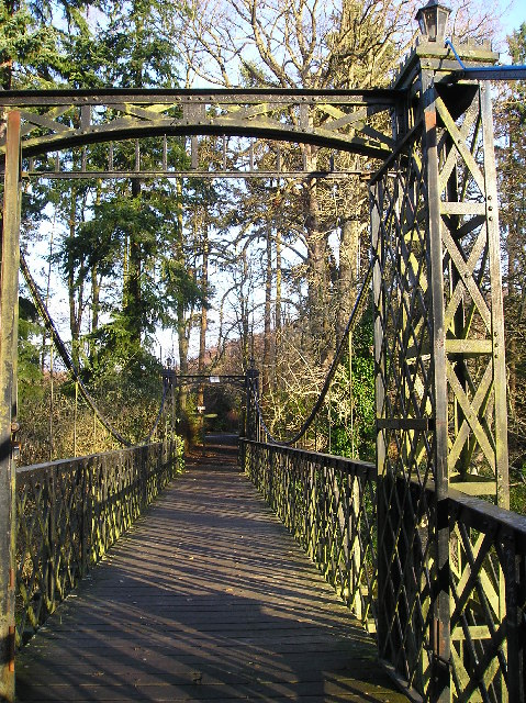 Footbridge at Crossford country park .