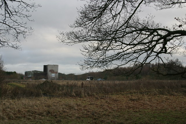 Industrial buildings on the site of the old Havannah Drift Colliery