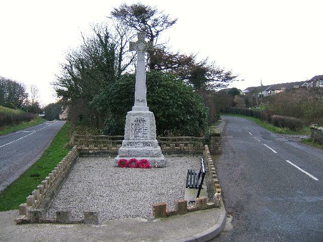 The war memorial at Portpatrick.