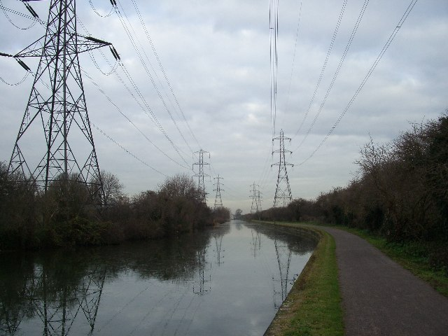 Pylons and canal, Edmonton