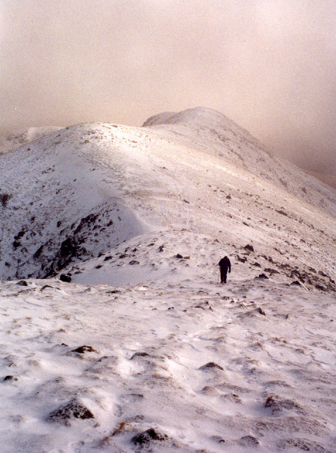 on the ridge leading NW to Beinn a'Chochuill