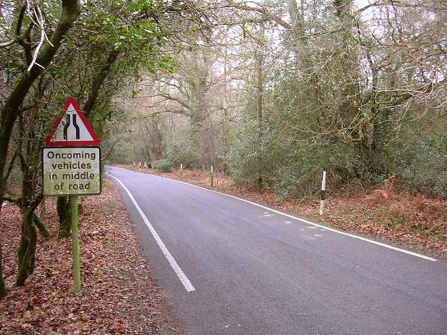 Un-named lane to Emery Down from the A337, New Forest