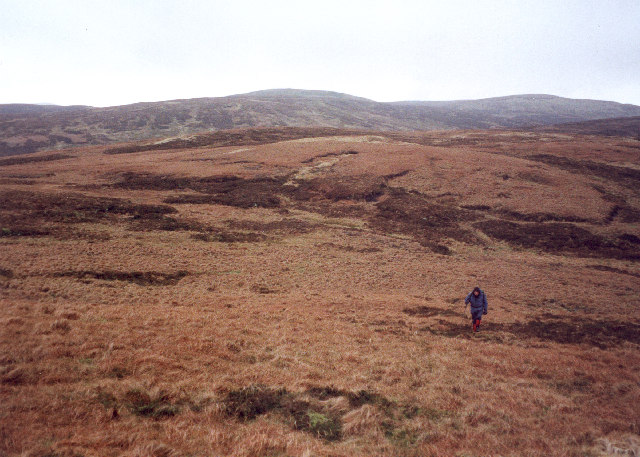 The rough moorland west of Queenside Hill
