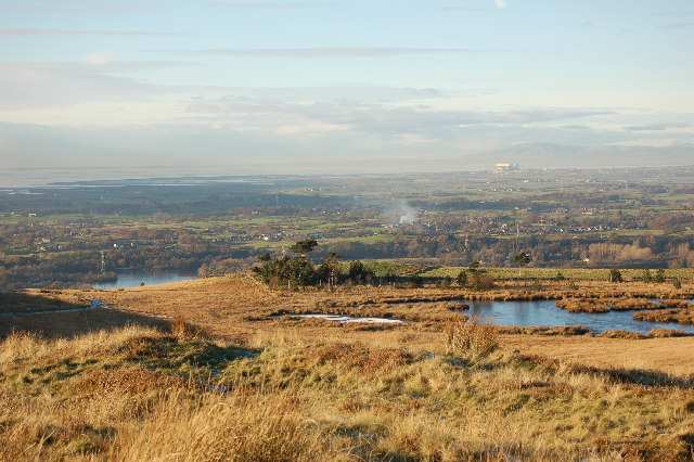 Looking down to Wyresdale Park