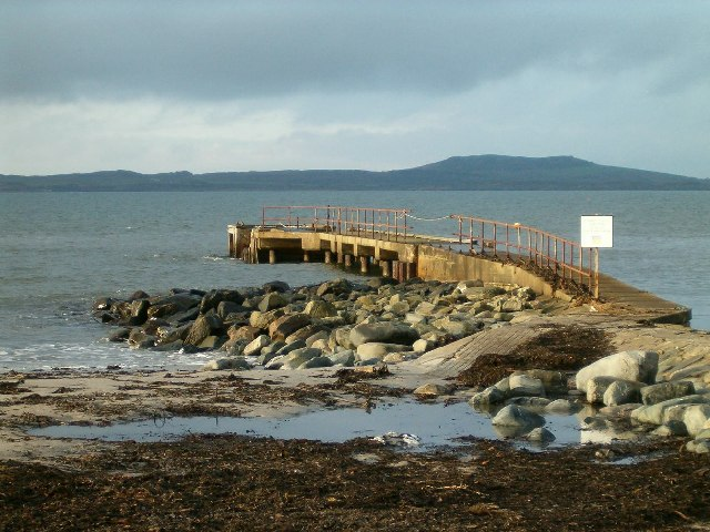 Old Pier at Ferry Farm, Tayinloan