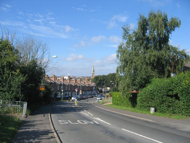 Leicester Street from the Campion Hills