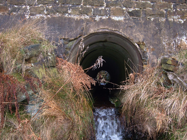 Culvert under the A58 Halifax Rd, Rishworth Moor