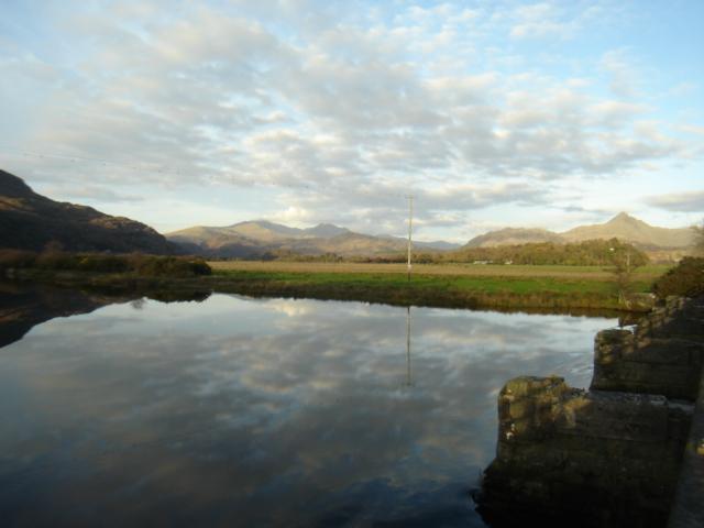Afon Glaslyn, Pont Croesor, Tremadog